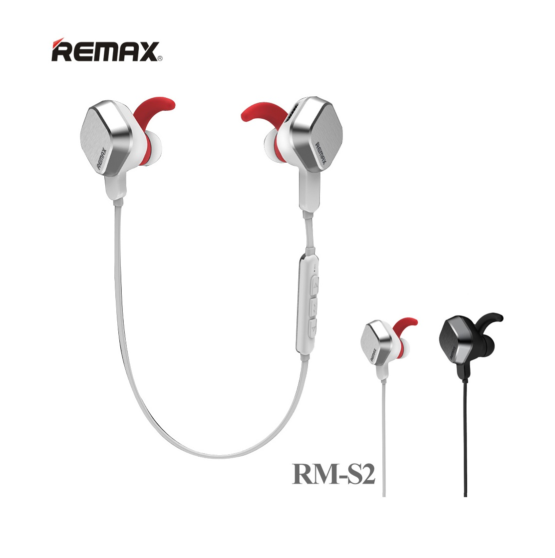 Earphone Remax Rb S2 Magnet Sports Bluetooth Skull Tech